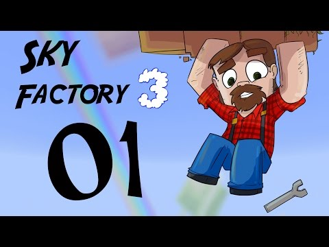 FTB SkyFactory 3 Episode 1:  Trees and Me!
