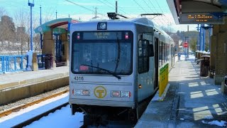 Port Authority Transit: Pittsburgh Light Rail (BLUE LINE) to Library... FULL RIDE!