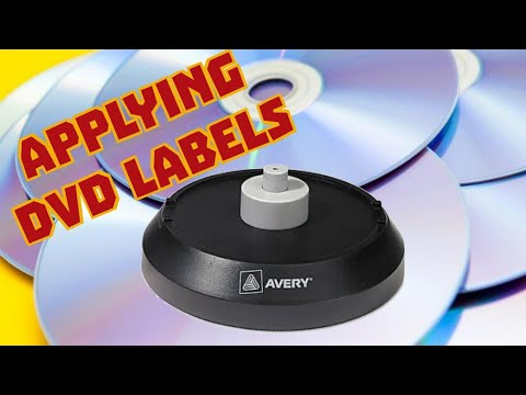 Applying DVD Labels