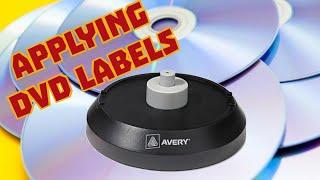 Applying DVD Labels