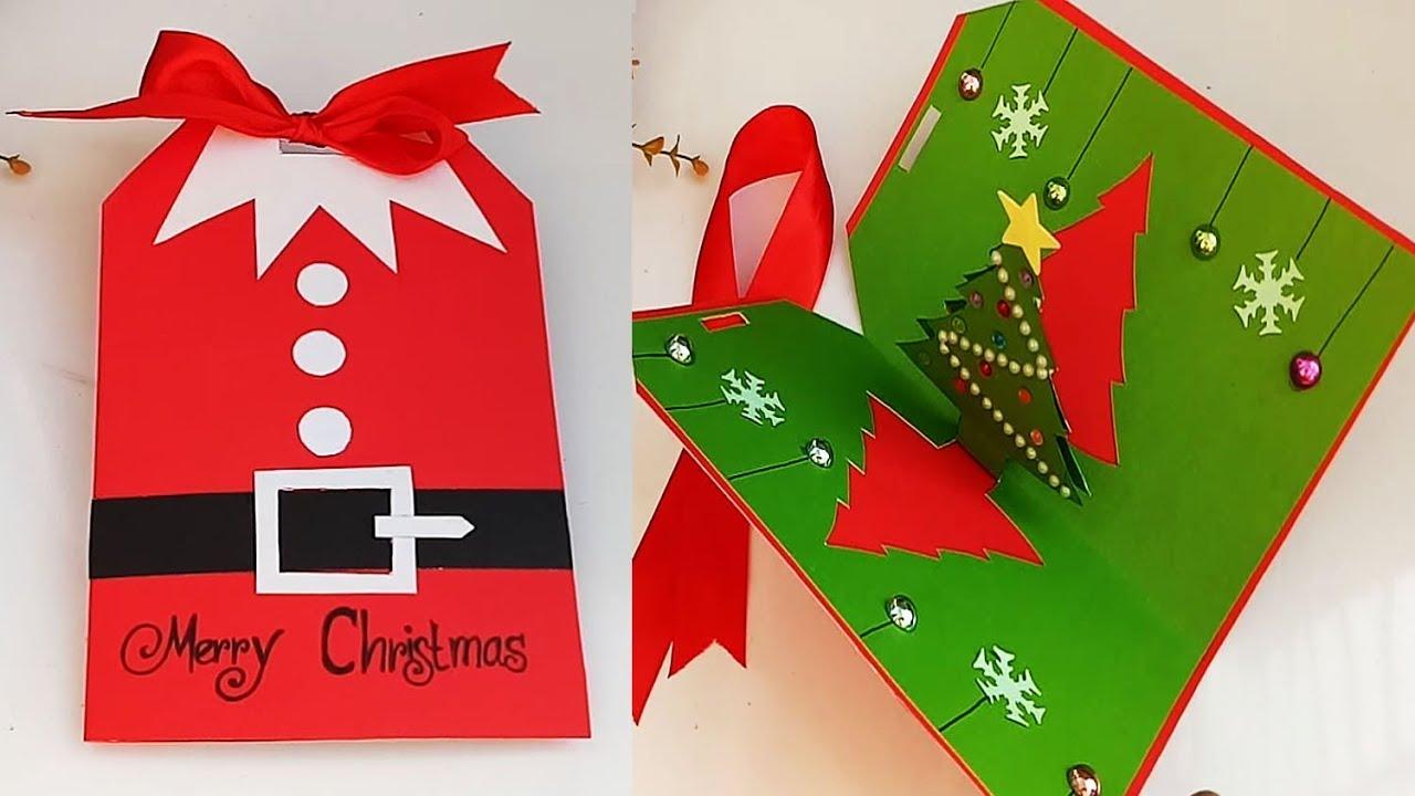 Christmas Greeting Cards Handmade.Diy Christmas Pop Up Cards Handmade Christmas Greeting Cards