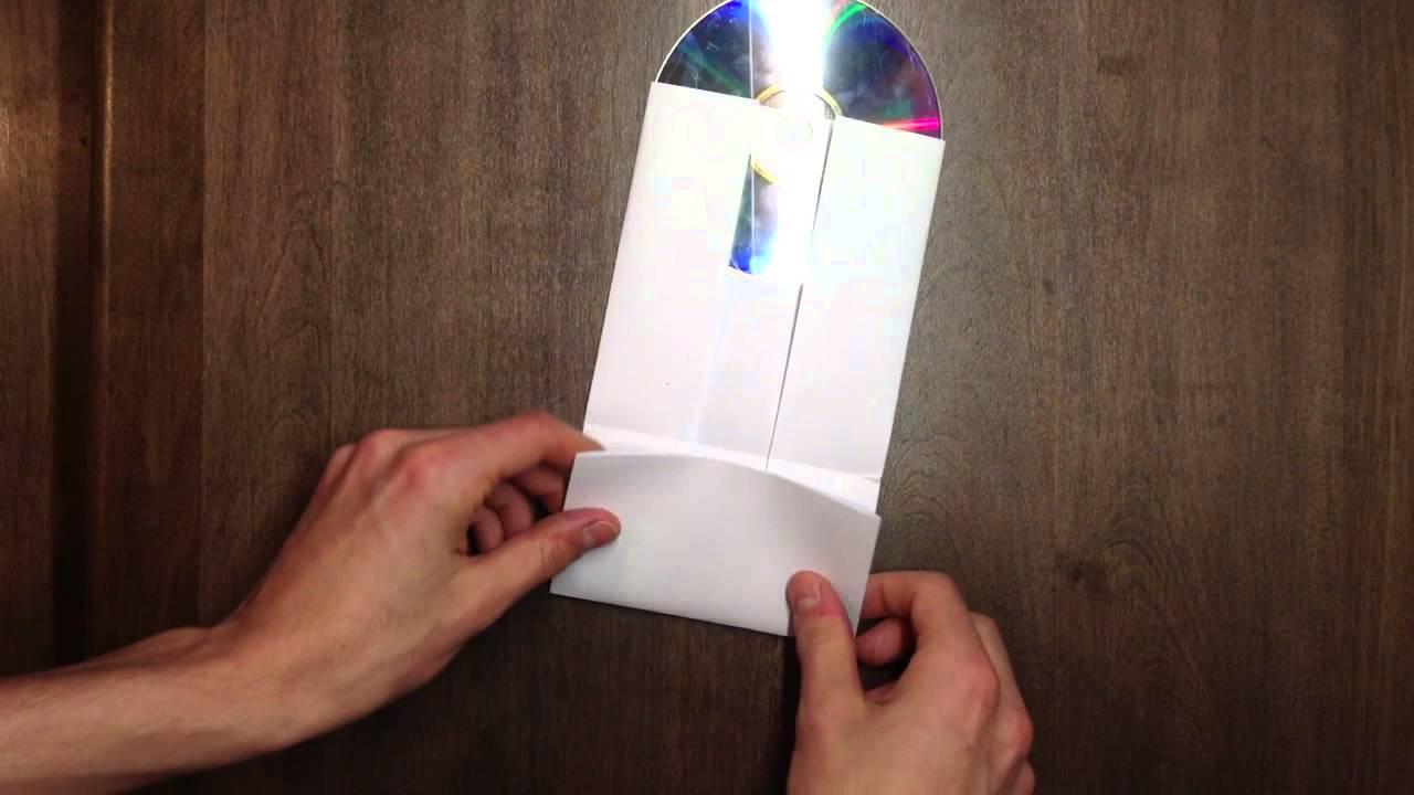 faire une pochette cd en papier fabriquer boite disque youtube. Black Bedroom Furniture Sets. Home Design Ideas