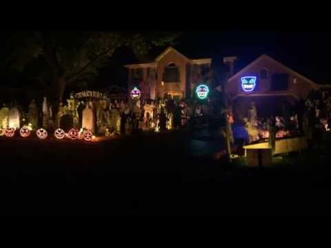 Halloween Light Show 2014, Kongos Come With Me Now. Thomas Halloween 2014 Naperville IL