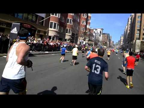 2014 Boston Marathon - Finish