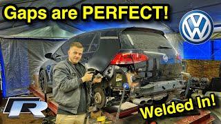 Rebuilding A WRECKED Aฑd MODDED 2016 Volkswagen Golf R From COPART Part 4!