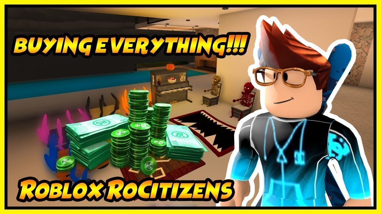 🔥 Buying EveryThing In Roblox Rocitizens !!! (Epic) 🔥 - Most