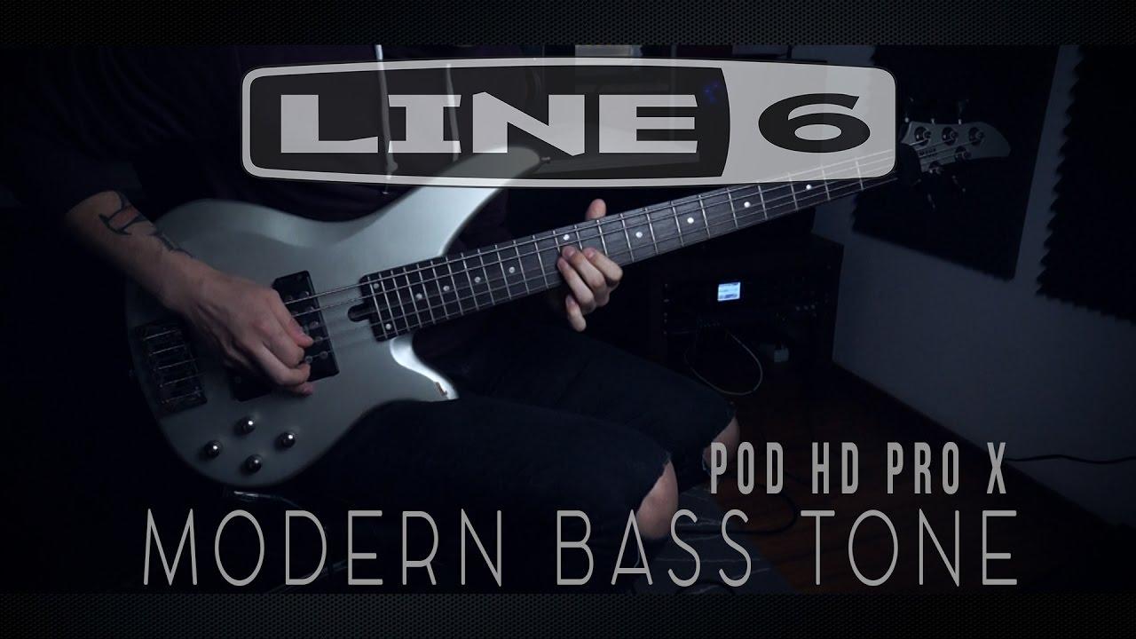 line 6 pod hd pro x modern bass tone link youtube. Black Bedroom Furniture Sets. Home Design Ideas
