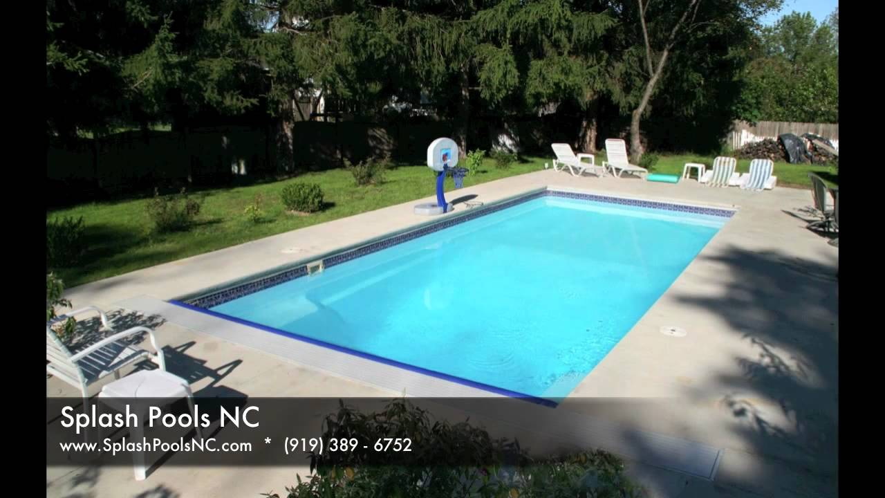Splash Pools Nc Viking Fiberglass Rectangle Models Youtube