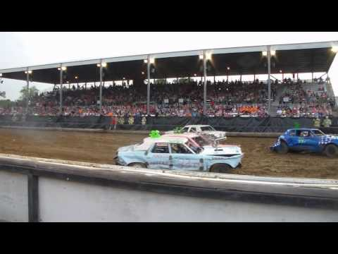 Marion County Salem Demolition Derby 2016 Heat 1