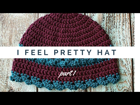 I Feel Pretty Womens Hat Crochet Video Pattern Part 1 Of 2 HD 2017 Oombawka Design