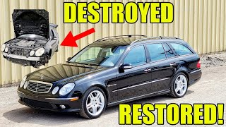 Restoring A Rare Mercedes E55 AMG Super Wagon! Satisfying 5 Week Transformation Fixing EVERYTHING!