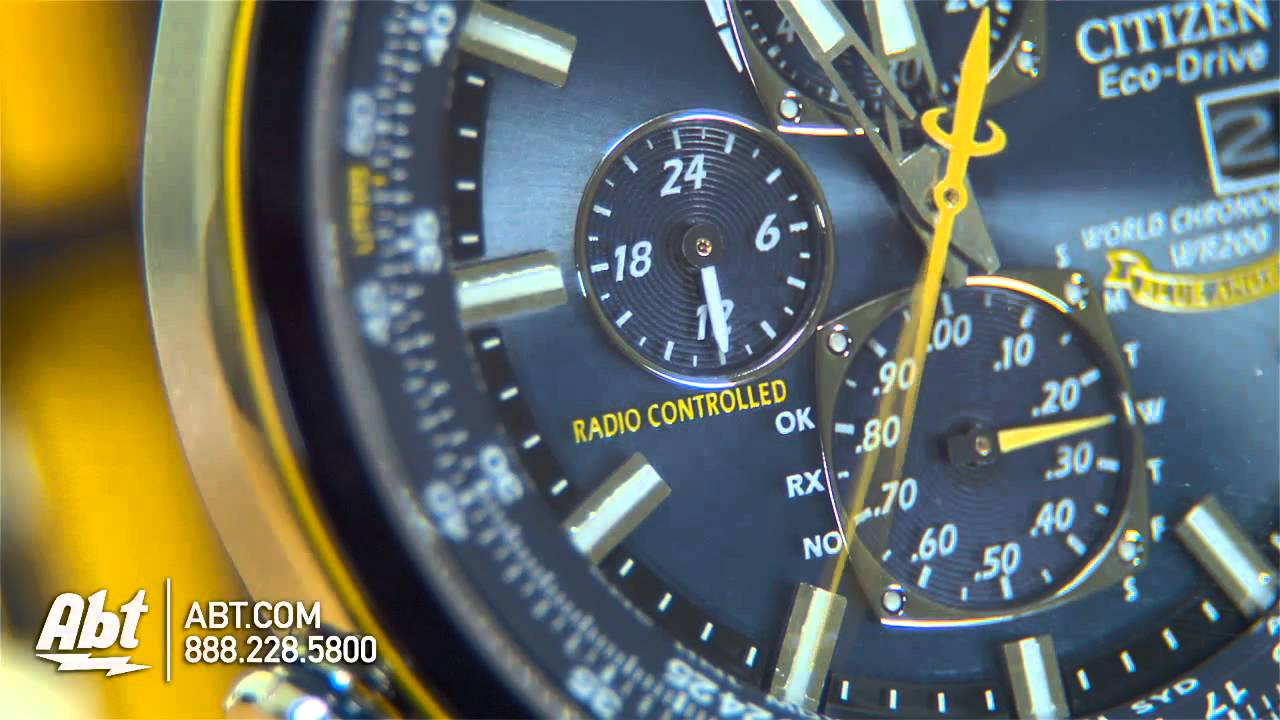 50a56f08e Citizen Blue Angels World Chronograph Mens Watch Overview - YouTube