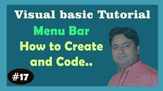 Menu create in Visual Basic | Visual Basic Tutorial | Visual Basic 6.0 Learn in Hindi