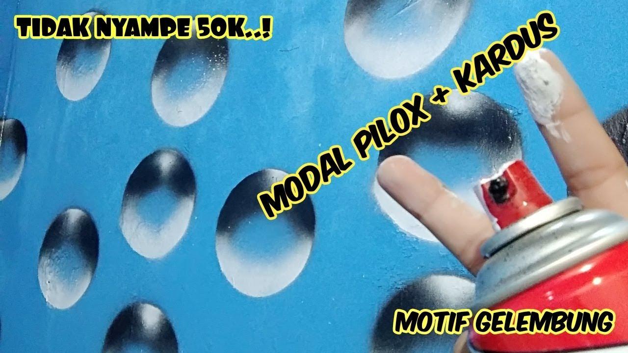 how to make bubbles with spray paint gambar motif gelembung di dinding dgn  cat semprot 3d wall art
