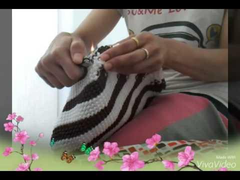 Cara membuat tas tali kur motif pelangi 2 warna by Azriofi~~SEMOGA BERMANFAAT~~