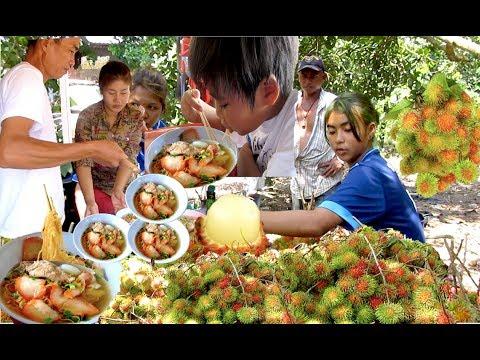 Eat Chysee Noodle at Bo Rai District | Visit Rambutan Plantation at Trat Province Thailand - YouTube