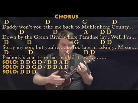 Paradise (John Prine) Ukulele Cover Lesson In D With Chords/Lyrics