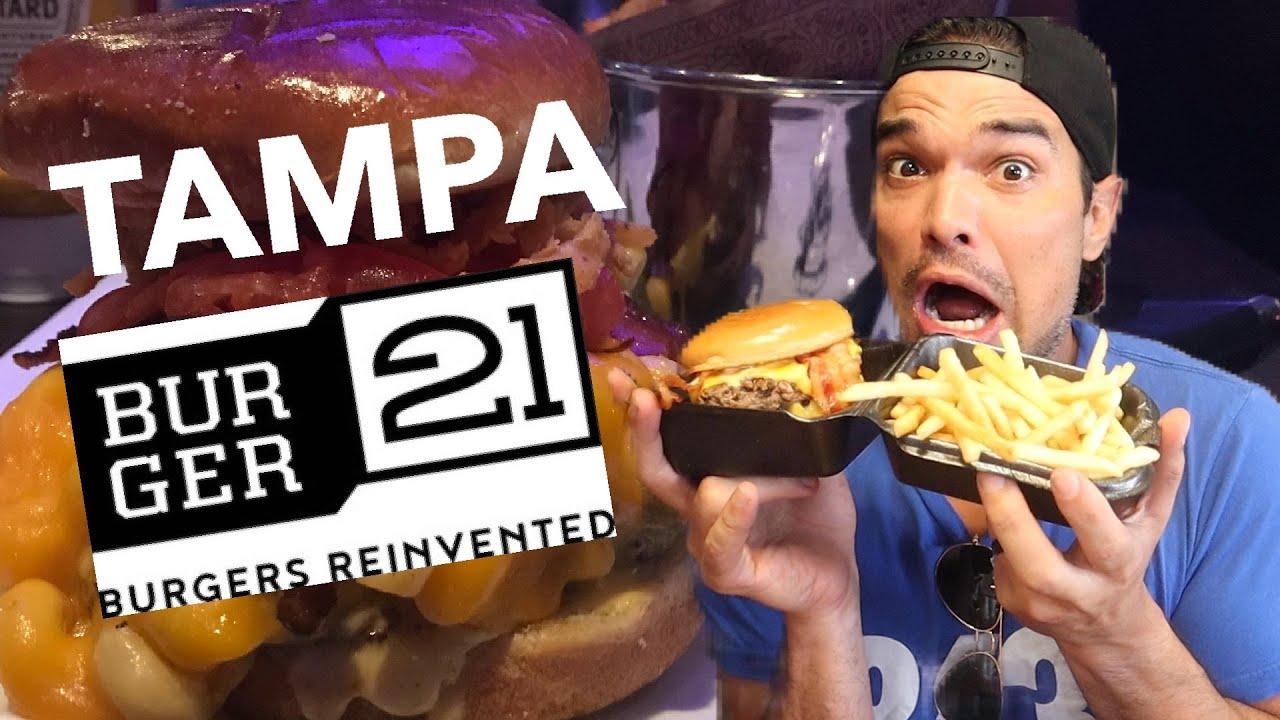 Burger 21 Review and Mukbang - Tampa FL