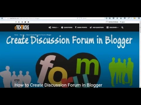 How to Create Discussion Forum in Blogger - eTechTricks.com