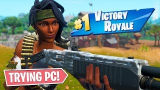 CONSOLE PLAYER TRIES FORTNITE ON PC!