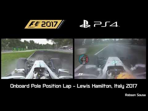 F1 2017 Real vs Virtual - Pole Position Lap - Hamilton, Monza 2017 [PS4]