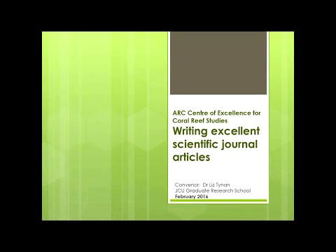 Liz Tynan - Writing excellent scientific journal articles