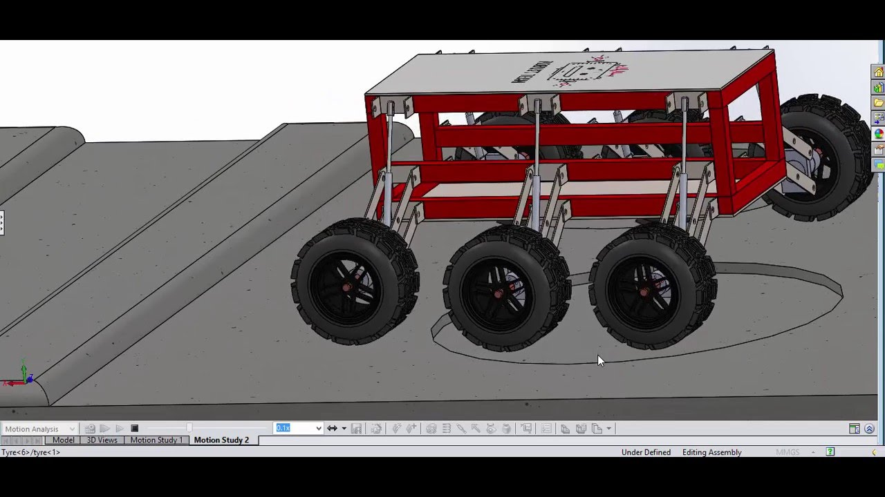 suspension analysis based on solidworks modeling