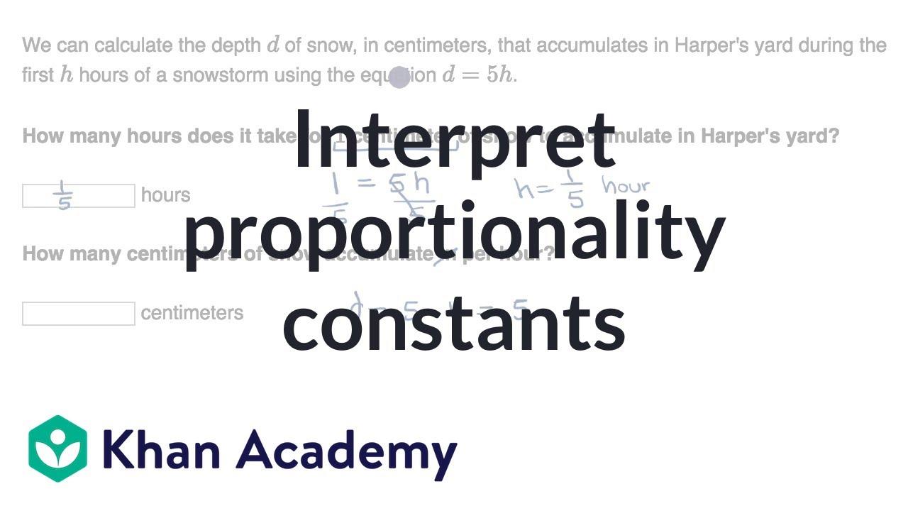 Interpret proportionality constants (video) | Khan Academy