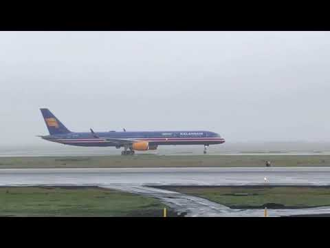 First arrival of Icelandair Boeing 757-300 TF-ISX with new livery
