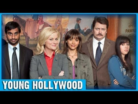 Cast of PARKS & RECREATION Play Interview Ping Pong