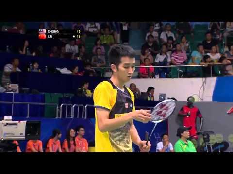 Video Vòng 3 giải cầu lông Vô Địch Thế Giới 2013  Lin Dan vs Chong Wei Feng