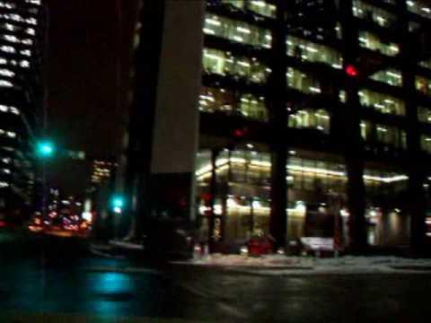 Winter Drive-Calgary at Night