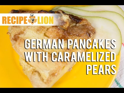German Pancake with Caramelized Pears