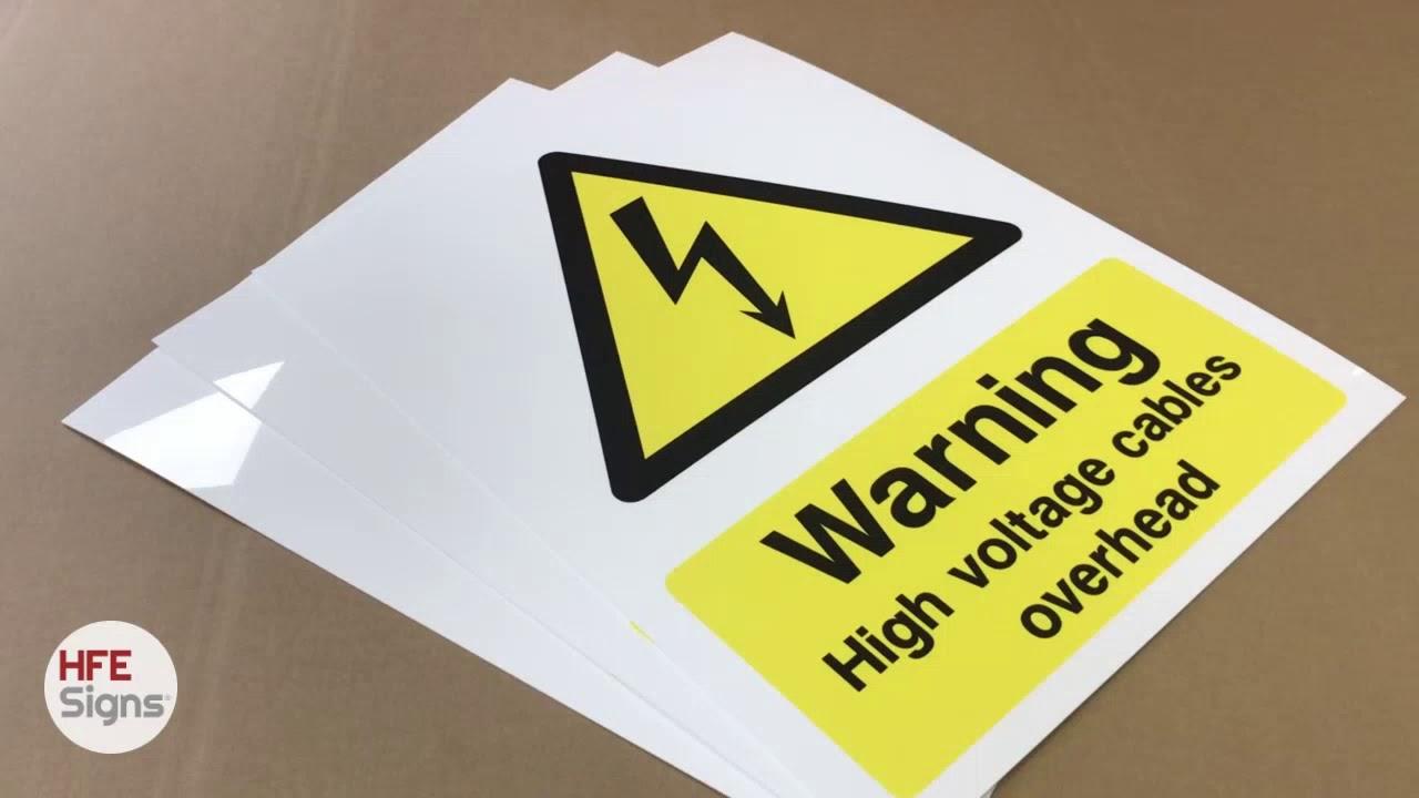 Warning Signs & Warning Sign Printing - Custom Print