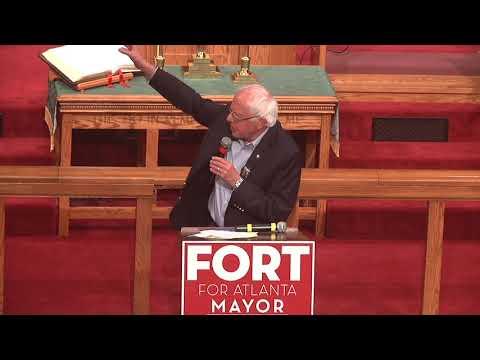 Bernie Sanders Endorses Mayoral Candidate Vincent Fort Before Large Atlanta Crowd