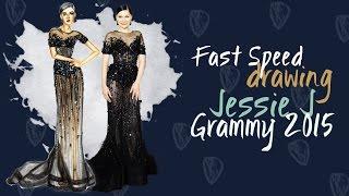 Vestido Jessie J - Ralph and Russo (fast speed)