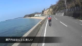 大部港から小豆島一周サイクリング.