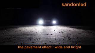 sandonled LED headlight bulbs 3 color in 1 9005 9006 H4 H7 H11