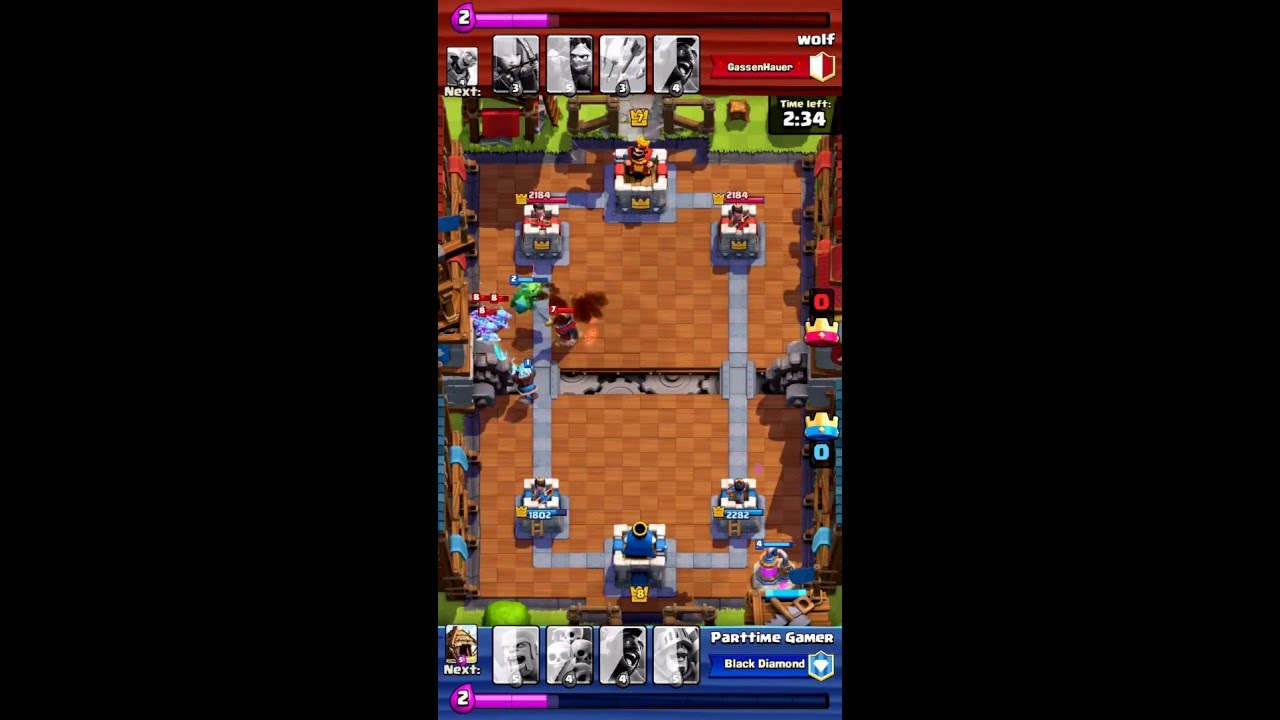 Epic deck in builders workshop arena 6 clash royale youtube for Best builders workshop deck