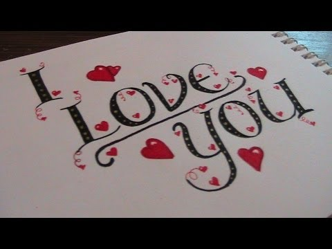 write cursive fancy letters - how to write I love you