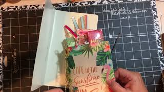 Tutorial - DIY Travelers Notebook cover using placemat - Time2plan Tuesday | dearjuliejulie
