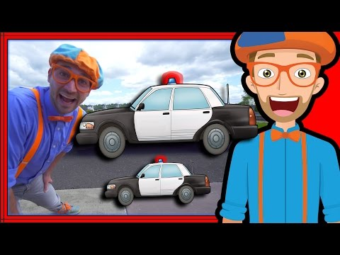 Thumbnail: Blippi Police Car Tour | Songs for Kids of the Police Car Song