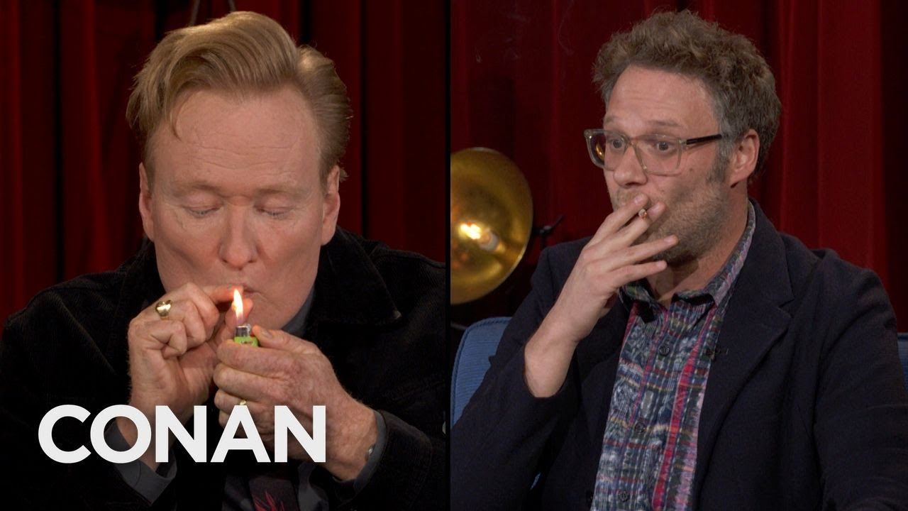 Download Conan Takes A Hit Of Seth Rogen's Joint  - CONAN on TBS