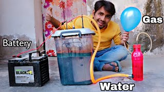 Turning Water Into Fuel HHO Gas At Home - 100% Working Trick