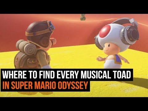 Where to find every Musical Toad in Super Mario Odyssey