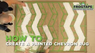 How to Create a Painted Chevron Rug
