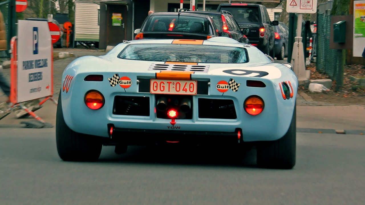 Ford Gt Gulf Livery Lovely Sounds Start Up And Accelerate Youtube