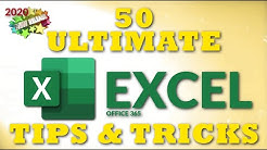 50 Ultimate Excel Tips and Tricks for 2020