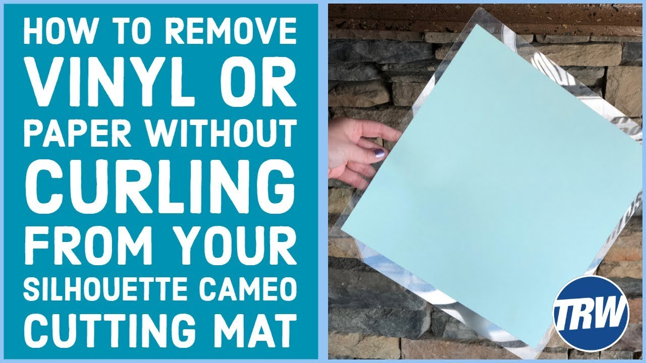 How To Remove Vinyl Or Paper Without Curling From Your Silhouette Cameo Cutting Mat