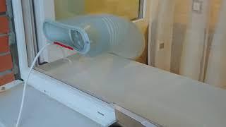 видео Установка мобильного кондиционера в пластиковое окно